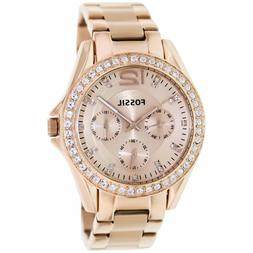 Fossil Riley Rose Gold Dial Stainless Steel Watch ES2811 Lad