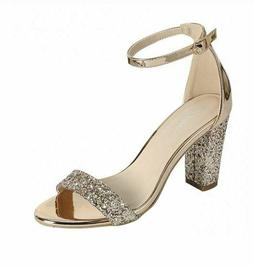 Forever Link Rise-8 Womens Glitter Rose Gold Faux Patent Lea