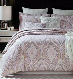 Rose Gold Bedding Glamour Damask Paisley Print Luxury Duvet