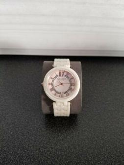 Anne Klein Rose Gold Ceramic Swarovski Crystal Women's Watch