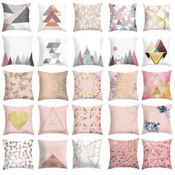 Rose Gold Cushion Cover Geometric Dreamlike Pillow Case Thro
