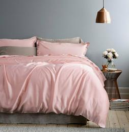 rose gold duvet cover luxury bedding set