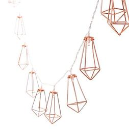 Ling's moment 5Ft Rose Gold Geometric Boho LED Bedroom Fairy