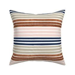 Rose Gold Gold Stripes Stripe Throw Pillow Cover w Optional