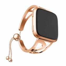 Rose gold Lady Bracelet Stainless Steel Watch Wrist Band Str