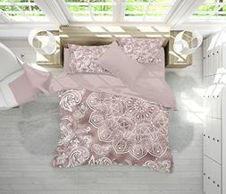 Rose Gold Mandala Bedding, Rose Gold and White Mandala Beddi
