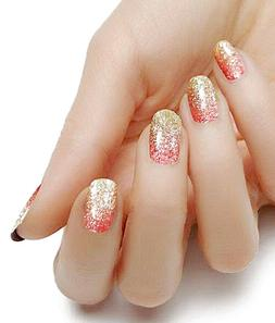 Rose Gold Ombre color real nail polish strips KHS4018 street
