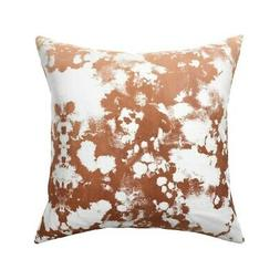 Rose Gold Painted Paint Throw Pillow Cover w Optional Insert