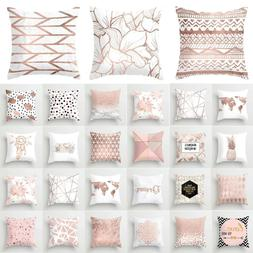 rose gold pink throw pillow cases cushion