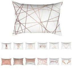 Rose Gold Pink Series Cushion Cover Throw Pillow Case Pillow