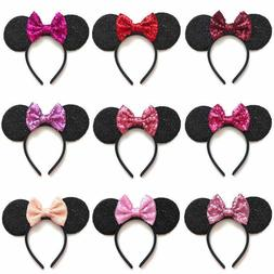 Rose Gold / RED/RAINBOW/ BLUE/SILVER Minnie Mouse Ears Headb