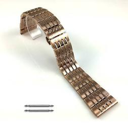 Rose Gold Steel Metal Bracelet Replacement Watch Band Strap
