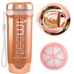 ROSE GOLD TEAMI TEA TUMBLER with Infuser | 100% BPA FREE Bot