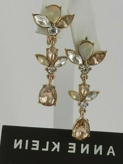 Anne Klein  Rose Gold-Tone Crystal  Drop  Earrings