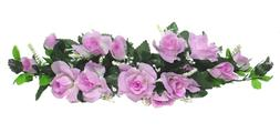 Rose Swag ~ MANY COLORS ~ 2 ft Silk Wedding Flowers Arch Gaz