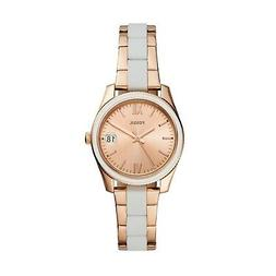 Fossil Scarlette Mini Three-Hand Date Rose Gold-Tone Stainle