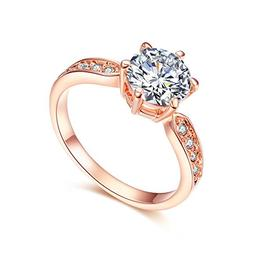 SPILOVE Serend 18k Rose Gold Plated 1.5ct Heart and Arrows C