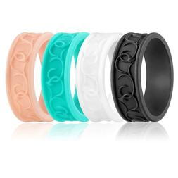 Silicone wedding ring Women rubber band Sport Yoga Elegant W