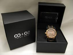 SO & CO NY Rose Gold Quartz Watch For Man or Woman-NEW IN BO