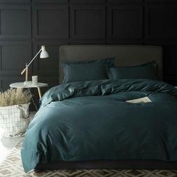 solid color egyptian cotton duvet cover luxury
