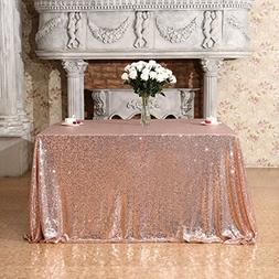 "3E Home 50x50"" Square Sequin TableCloth for Party Cake Desse"