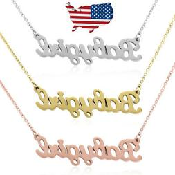 Stainless Steel Alphabet Baby Girl Princess Pendant Hip Hop