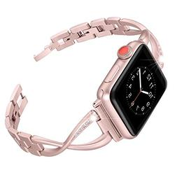 Secbolt Stainless Steel Band Compatible Apple Watch Band 38m