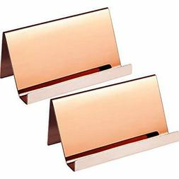 Maxdot 2 Pack Stainless Steel Business Cards Holders Desktop