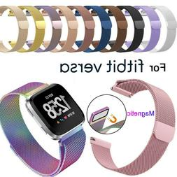 Stainless Steel Magnetic Milanese band For Fitbit Versa 2/Ve
