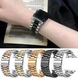 Stainless Steel Wrist iWatch Band Strap 40/44mm For Apple Wa