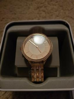 Fossil Suitor Stainless Steel  BQ3116 Rose Gold Tone Women's