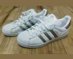ADIDAS SUPERSTAR WHITE ROSE GOLD ATHLETIC RUNNING SHOES 6.5