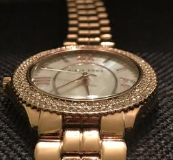 Anne Klein Swarovski Crystal Rose Gold Tone Women's Watch NW