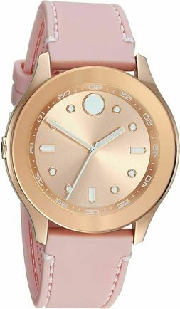 Movado Swiss Bold Sports Rose Gold Sunray Ladies Pink Rubber