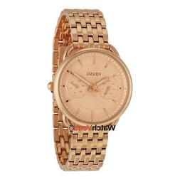Fossil Tailor Multifunction Rose Dial Ladies Watch ES3713