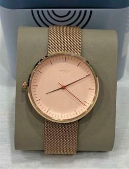 Fossil The Essentialist 38mm White Dial Rose Gold Women's Wa