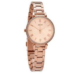 Fossil The Kinsey 3 Hand Womens Wrist Watch w/Rose Gold Stee