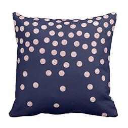 Emvency Throw Pillow Cover Girly Rose Gold Glitter Confetti
