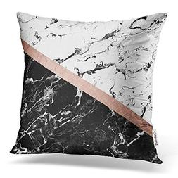 Accrocn Throw Pillow Covers Modern Black White Marble Color