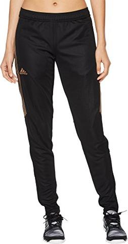 adidas Women's Tiro17 TRG Pant, Black/Rose Gold Metalic, X-S