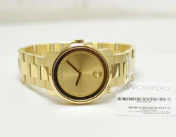Movado Bold Bold Gold Tone Watch with Link Bracelet