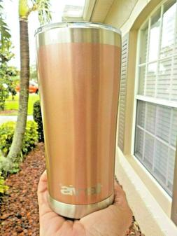 Tervis Tumbler Powder Coated Rose Gold Stainless Steel 20 oz