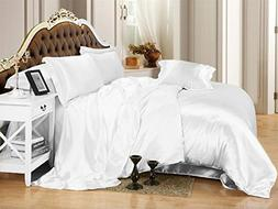 Ultra Soft Luxurious Satin 3-Peice Duvet Set Super Silky Vib