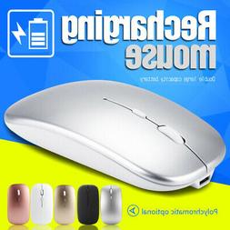 Ultra-Thin 2.4GHz Optical Wireless Mouse Mice USB Receiver f