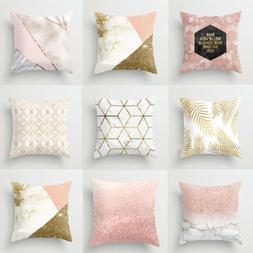 "US 18''x18"" Rose Gold Throw Pillow Case Cushion Cover Pillow"