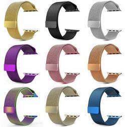 US For 38-44MM Apple Watch Series 1 2 3 4 5 Strap Stainless