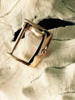 VINTAGE ROSE GOLD PLATED BUCKLE 18mm. STRAP FOR ROLEX