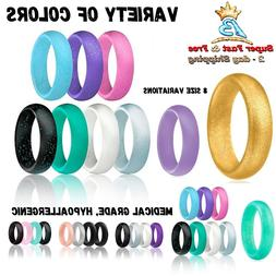 Women Affordable Silicone Wedding Ring Rubber Engagement Ban