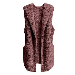 Women Coat Godathe Womens Vest Winter Warm Hoodie Outwear Ca