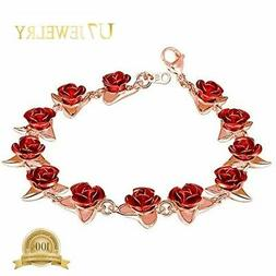 women girls cute rose gold plated link